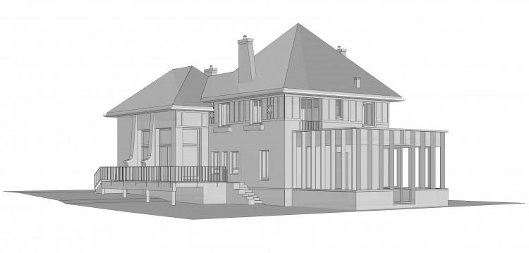 Extension d'une maison en bord de Seine